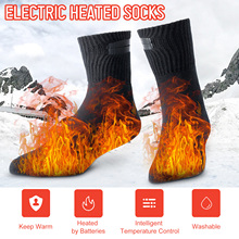 Winter Socks Stockings Ski Electric Camping for Feet-Warmer Rechargeable