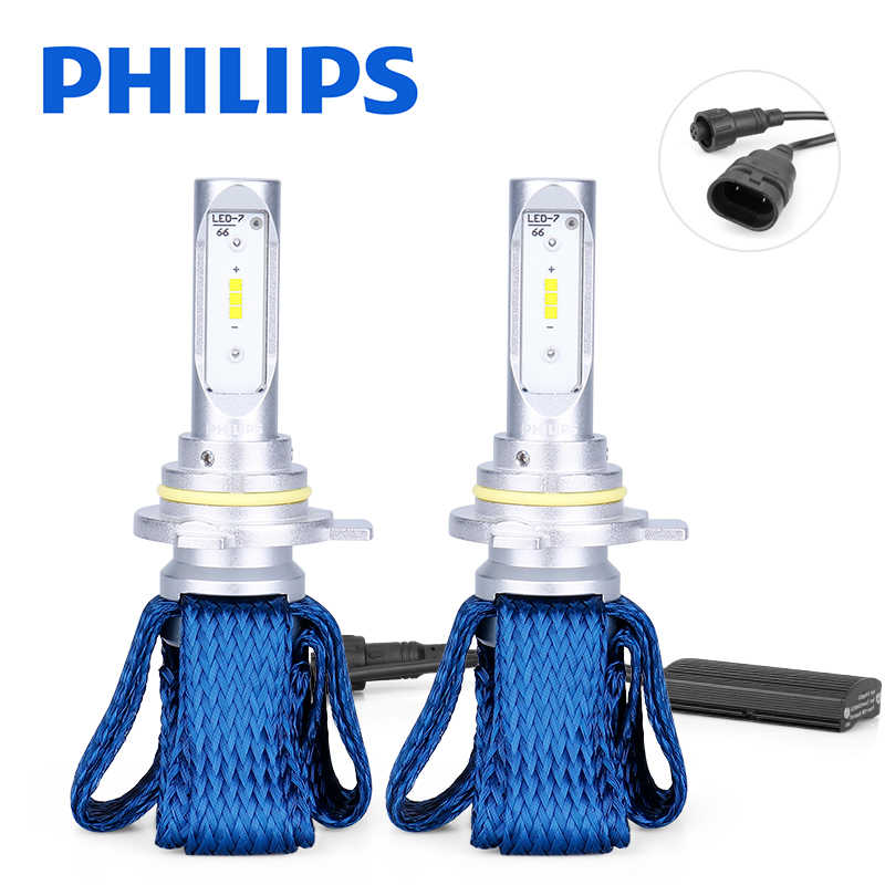 Philips Original 9012 LED HIR2 Car Headlight Bulbs 6000K Fog Lights luces led para auto diode lamps for cars Ultinon Essential