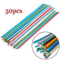 50 шт разноцветные пластиковые сварочные прутки белый/зеленый/синий/желтый/красный