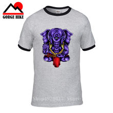 Indian Fairy Beast Ganesh T-Shirt Elephant-Headed Hindu God Ganesha Amazing 3d Unisex Print Funny Tee Men Adore T Shirt Tops 5xl(China)