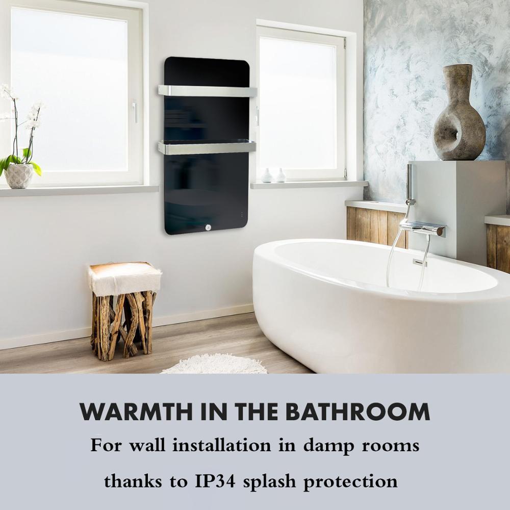 Elektrische Badezimmer Heizkörper Panel Heizung mit Zwei Handtuch ...