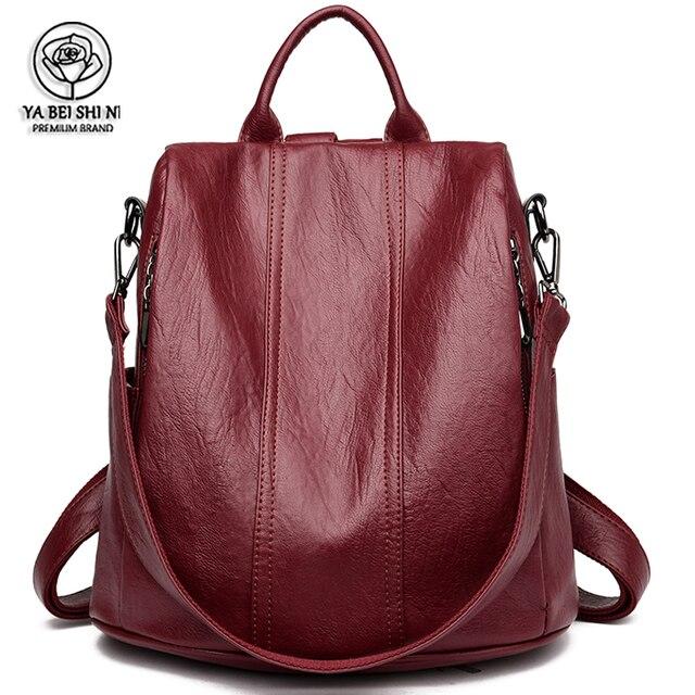 Женские водонепроницаемые кожаные рюкзаки