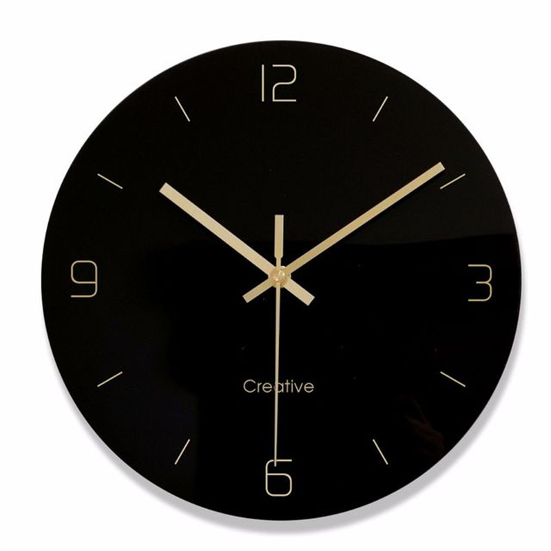 Glass Wall Clock Creative Personality Decorative Clocks 12 Inch Mute Clock Wall Clocks Vintage Home Decor Kitchen 60zb415