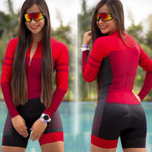 kafitt -2020 ciclismo suit triathlon sexy tights cycling jersey long sleeve cycling jersey swimsuit woman monkey suit 9D GEL