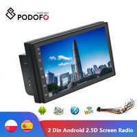 """Podofo Universale 2Din Android Autoradio Auto Radio 7 """"Car Multimedia Player Gps MP5 Wifi Bluetooth per La Messa a Fuoco Kia Nissian toyota"""