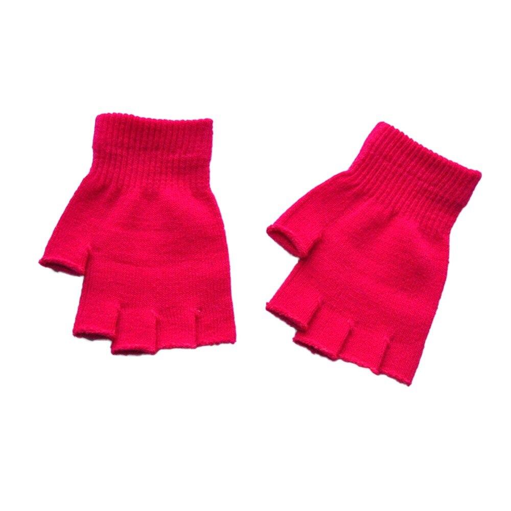 Women Men's Fingerless Gloves Male Without Fingers Winter Gloves  Hand Warmer Knitted Balck Gloves Ladies Dropship #YL5