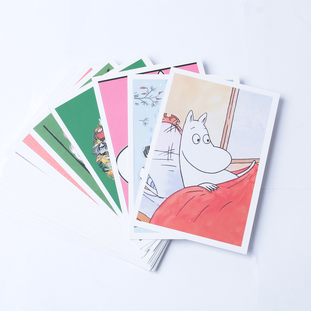 Moomin MUUMI Care Cartoon Collection Post Card Writer Paper Card 40 Pieces Cartoon Card Cute Hippo Little My Out Of Print Card