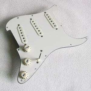 Image 5 - Kablolu Vintage beyaz ST gitar pickguard ile yüklü Donlis 60ların vintage Alnico manyetikler için fit pickguard stratocaster гитара