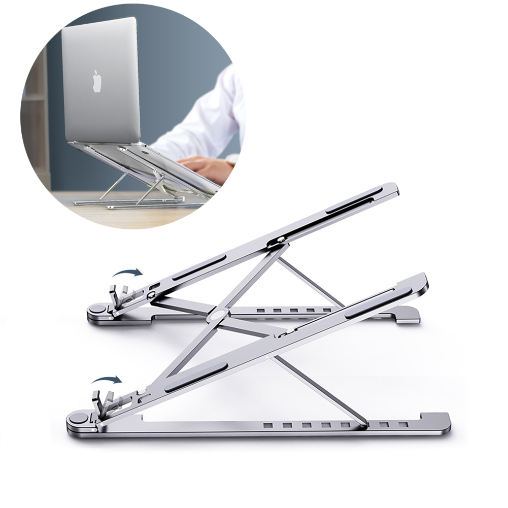 Portable Aluminum Alloy Computer Cooling Bracket Laptop Stand Foldable Notebook Stand Holder Lapdesk For 11-17inch Macbook