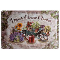 English Flower Garden Retro Metal Plate Painting Wall Decoration for Bar Home Club Pub and So on