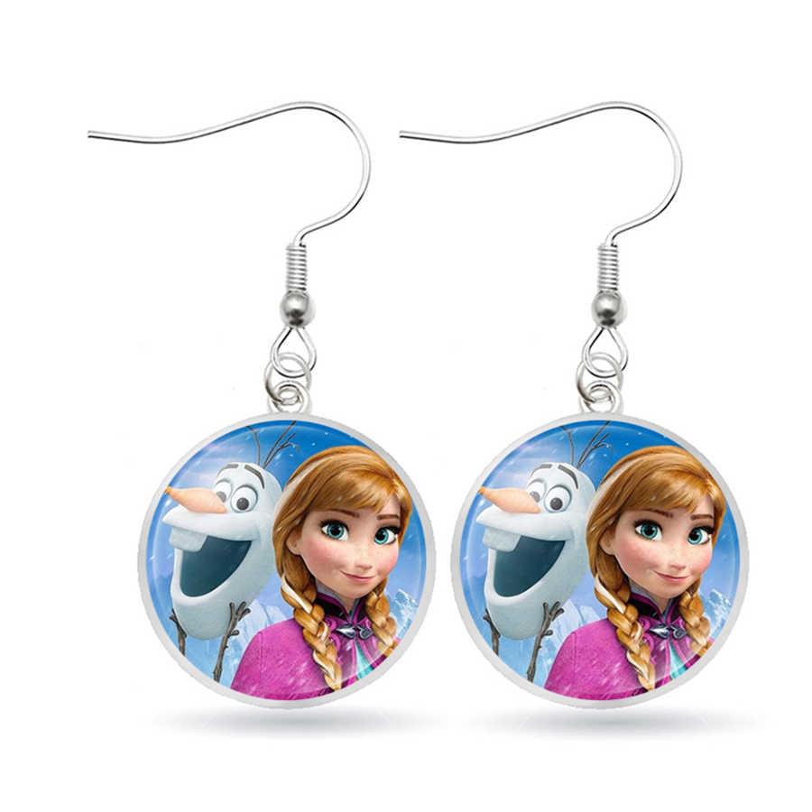 Hot Elsa Anna LADIES Dangle ต่างหูเจ้าหญิงโซเฟียตุ๊กตาโบว์ต่างหูอุปกรณ์เสริมสาววันเกิดของขวัญ Snow Queen สำหรับหญิง
