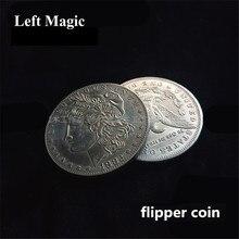 Ceia de cobre flipper moeda borboleta morgan dólar moedas truques de magia fechar-se magia ilusão acessórios trampolim prop mágicos