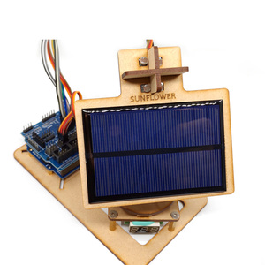 DIY Wooden Assembly Robot Technical Tool Smart Solar Tracking Toy With Arduino Control Board For Arduino Educational Toy Kids
