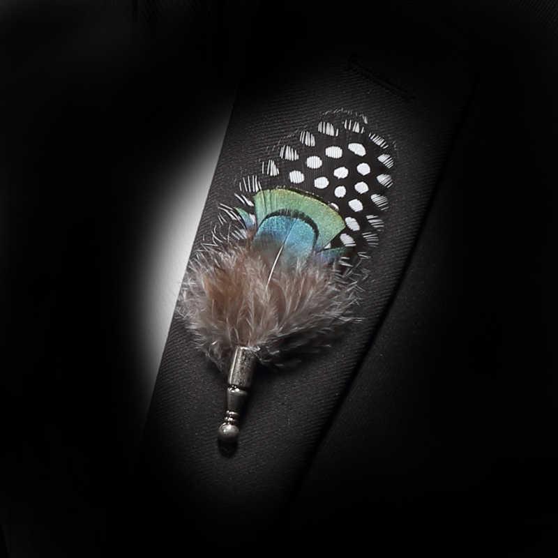 Jerman Pria Bulu Alami Bros Dasi Kupu-kupu Fashion Busur Dasi Bros Kayu Set Kotak Pesta Pernikahan Konser Pengikat Rambut