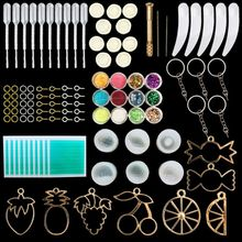 Fruit candy jewelry Silicone Resin Kits Jewelry Casting Mold Tools Set Included Jewelry Pendant Moulds Stud Earrings