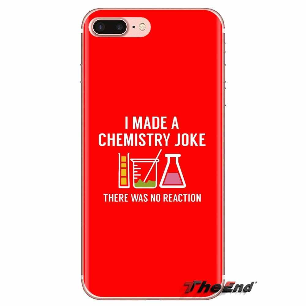 أنا إجراء الكيمياء نكتة لينة شفافة حالات يغطي لمسة بود ابل اي فون 4 4S 5 5S SE 5C 6 6S 7 8 X XR XS زائد ماكس