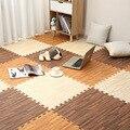 30x30x1cm Holz Baby EVA Schaum Spielen Gym Puzzle Matte Verriegelung Übung Fliesen Krabbeln Teppich für kinder Spiel Aktivität Weichen Boden