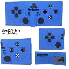 Игровой джойстик для PlayStation 4, с ручкой, ПВХ, кошелек, двойной, короткий, для фотографий, держатель для карт, слои, мультфильм, для мальчиков и д...