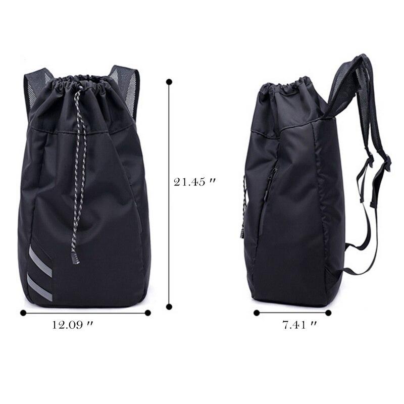 Мужской баскетбольный рюкзак SHUJIN, черный школьный рюкзак для мячей, футбольных мячей, с кулиской, для фитнеса, для занятий спортом на открытом воздухе, осень 2019-2