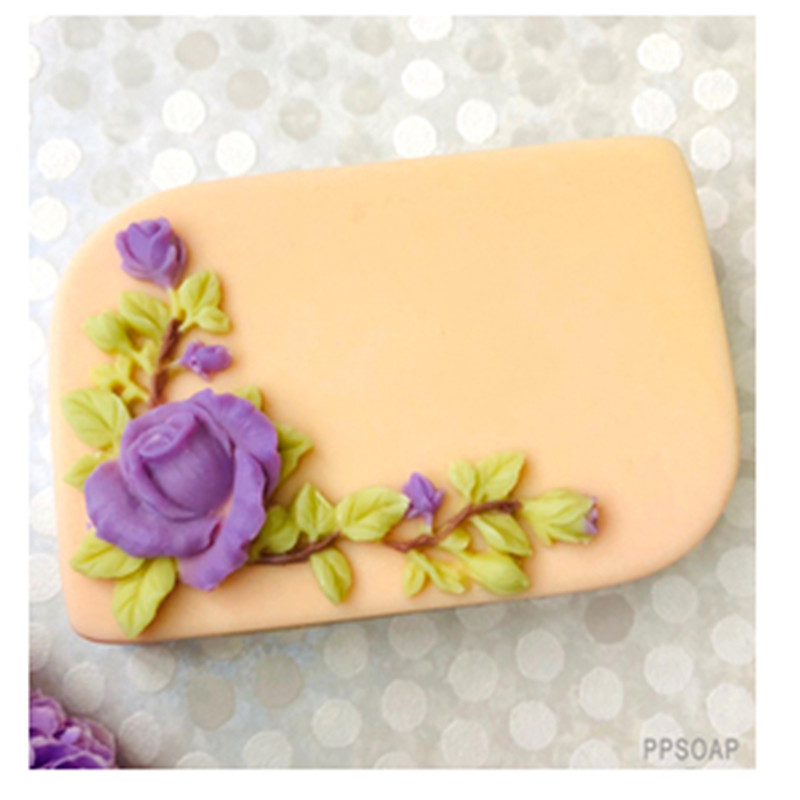 HC0165 PRZY Silicone Mold flower rose Soap Molds Silicone Fondant Mould Rose vine Clay Resin Gypsum Chocolate Candle Mold