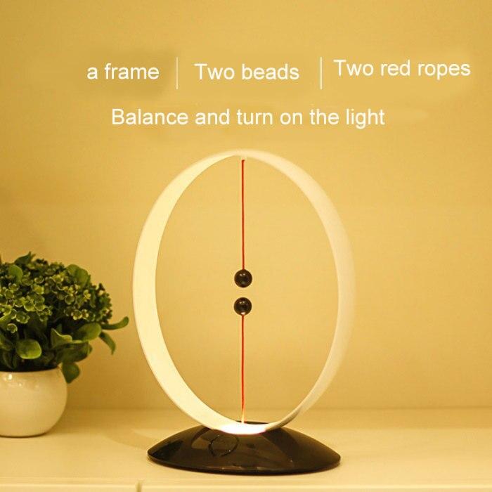 Suspensão magnética balanceamento lâmpada de carregamento usb