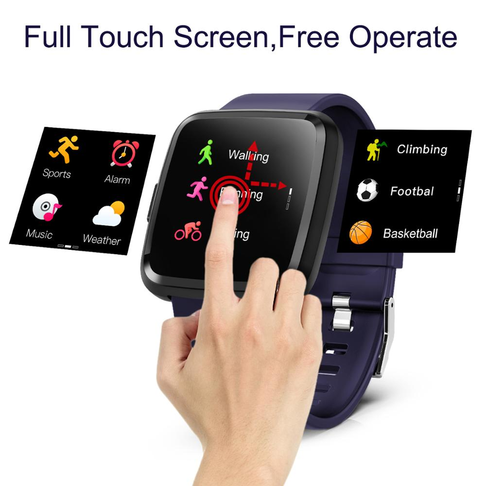 BingoFit Smart Watch Waterproof Heart Rate Monitor Blood Pressure Wristband Full Screen Touch Multiple Sport Mode Fit Watch in Smart Wristbands from Consumer Electronics