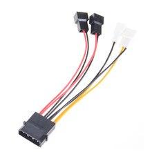 Adapter do kabla złącze komputerowy wentylator chłodzący kable 12v / 5v DC do procesora obudowa PC wentylator 1X nowy 4-Pin Molex do 3-pinowy kabel zasilania