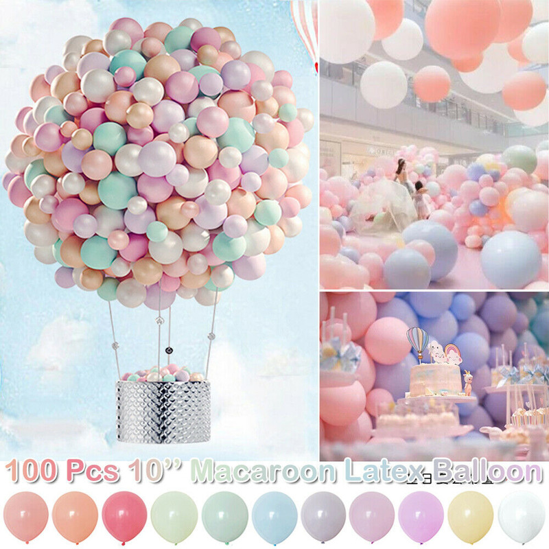 100pcs <font><b>10</b></font> inch Macarons Latex Balloons Balony <font><b>Birthday</b></font> Party Candy Balloon <font><b>Birthday</b></font> Party <font><b>Decorations</b></font> Adult Baby Shower Wedding image