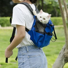 Pet Dogs Legs Out Carrier Backpack Double Shoulder Bag Easy-Fit For Outdoor Travel Hiking Camping