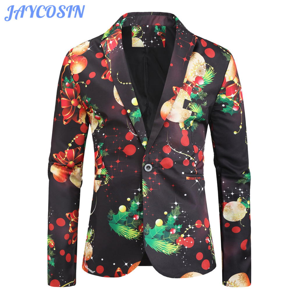 JAYCOSIN Suits Men 2019 Christmas Jackets Coats Winter Fashion Casual Black Shirt Blouse Suit Men Slim Fit Blazer Homme 1125