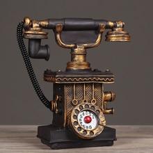 Винтажная полимерная телефонная копилка для денег, аксессуары для украшения дома, ретро подарок, старый телефон, модель шкафа, украшения, Ремесло