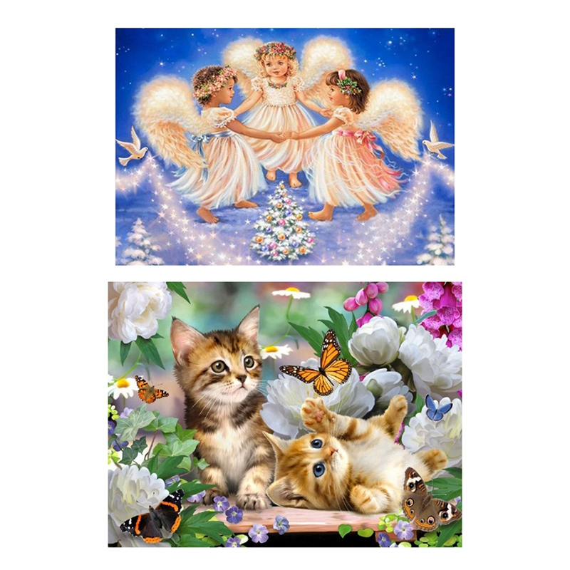 5D Diamond Painting Cross Stitch DIY Toy Wall Decoration Kids Gift Cute Cat