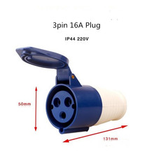 1PCS 3PIN 16A/32A weather proof  male/female connector waterproof and explosion-proof dust-proof industrial plug socket