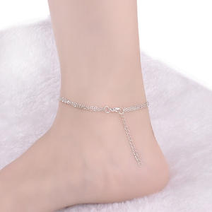 Anklet Bracelet Tobilleras-De-Plata Leg Foot-Jewelry Infinity-8 Beach Fashion The Summer
