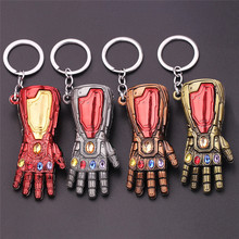 Marvel Мстители 4 Железный человек Бесконечность гаунтлет Косплей рука танос латексные перчатки руки супергерой бутафорское оружие ключ цепь