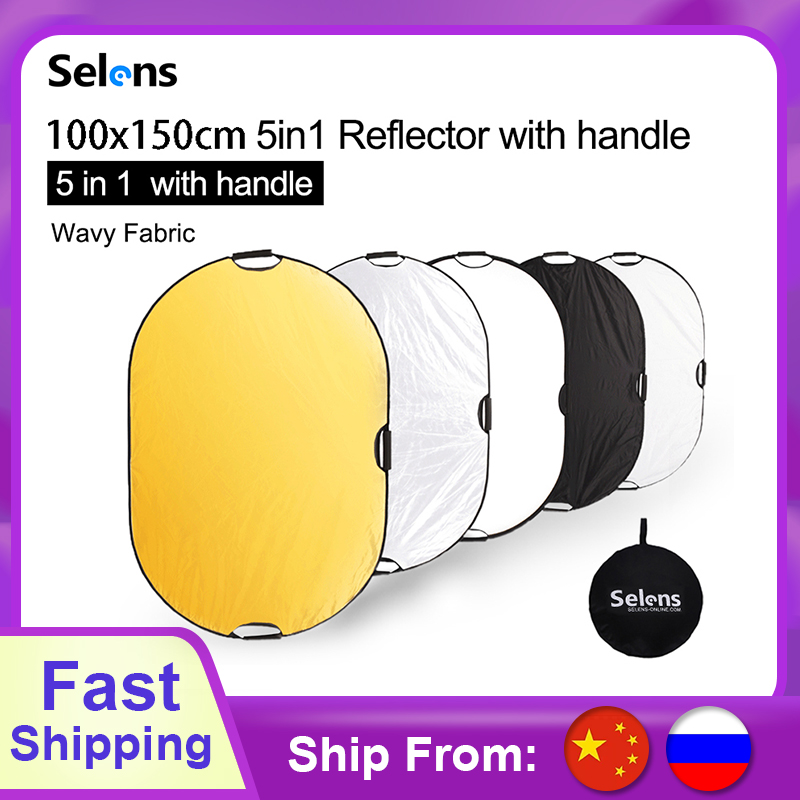 100x150CM 5 in 1 reflector photography light reflector Portable Camera light reflector with Carry Case reflector for Photography