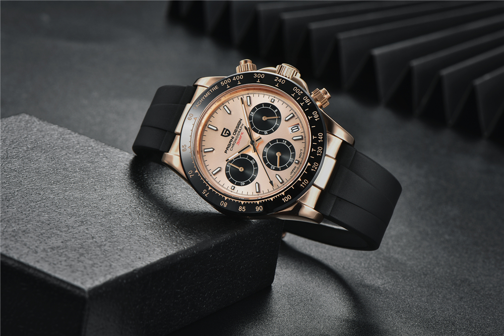 2020 New PAGANI DESIGN Mens Quartz Watches Automatic Date Luxury Gold Wristwatch Men Waterproof Chronograph Japan VK63 Clock man