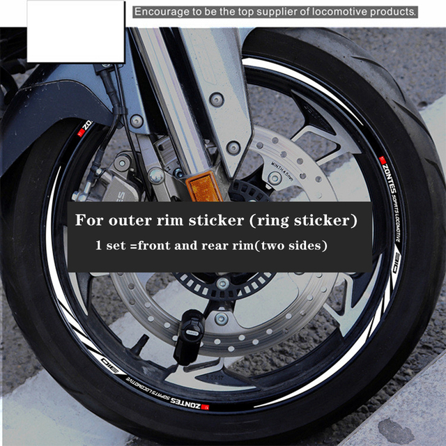 For ZONTE 310x motorcycle accessories wheel hub sticker waterproof reflective rim personalized edge Decal