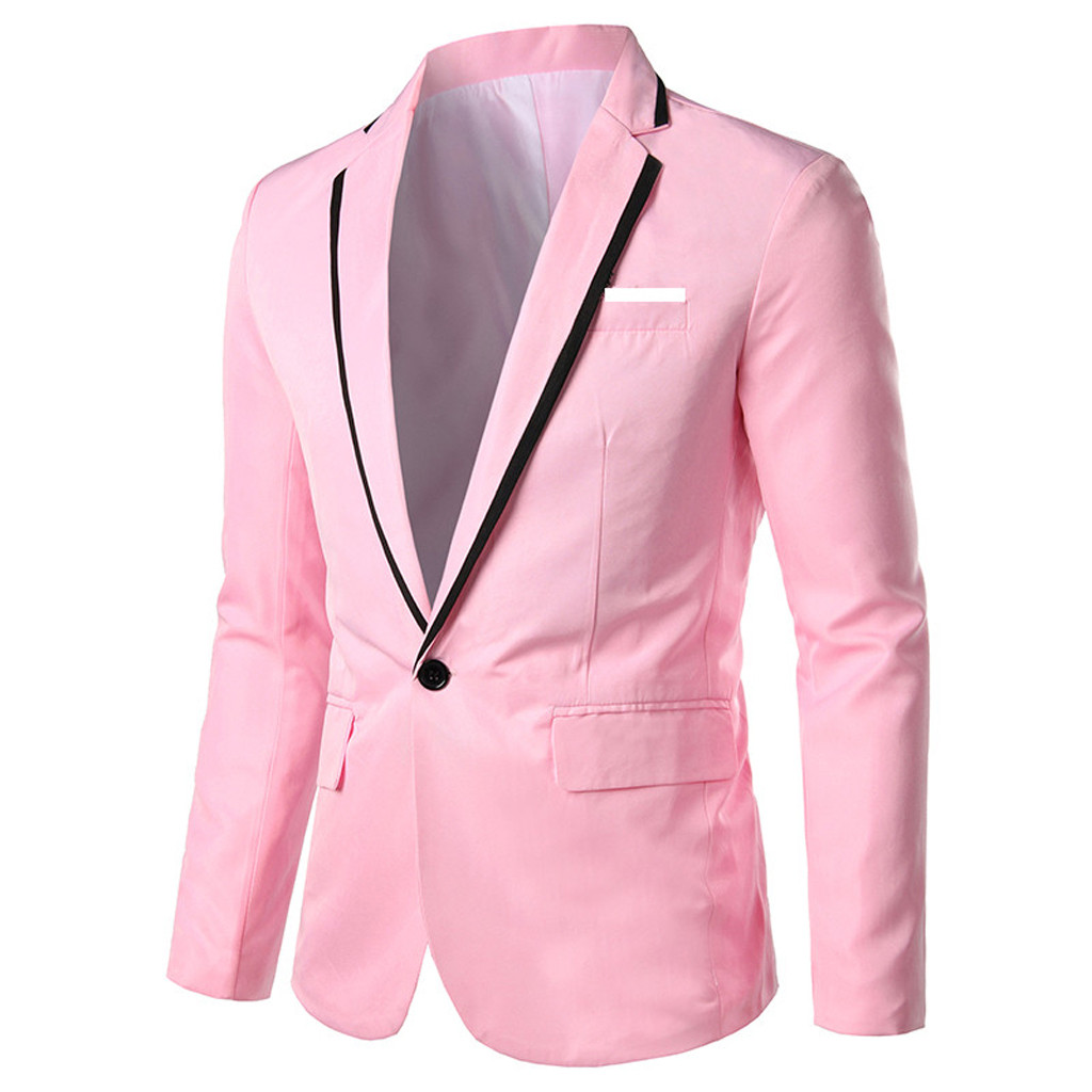 KLV Men Suit Jacket Suit Jacket Men's Stylish Casual Solid Blazer Business Wedding Party Outwear Coat Suit Tops Free Shipping D4