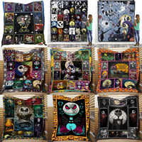SOFTBATFY Nightmare before Christmas Quilt All Season For Kids Adult Bed Soft Warm Blanket Quilt Dropshipping