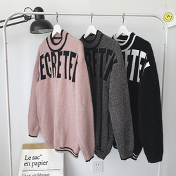 Winter Sweater Men Warm Fashion Letter Printing Casual O-neck Knit Pullover Man Loose Long-sleeved Sweter Male Clothes M-3XL