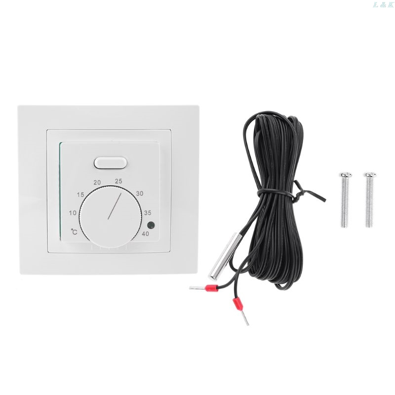 UnderFloor Electric Heating Room Thermostat 16A AC220~230V Save Energy Floor Heating Temperature Controller 86x86mm L29K