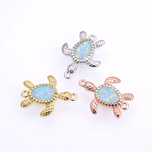 2019 fashion jewelry accessories creative turtle beach animal as a gift to the cute girl boy blue opal little