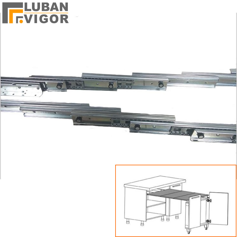 Cabinet Drawer Rails Multifunctional Invisible Dining Table Slide  Pull-out Folding Hidden Dining Table Multi-section Track