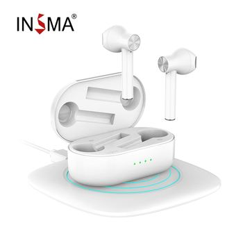INSMA Airbuds 2 TWS V5.0  bluetooth True Wireless Charging Earbuds With Dual Mic Noise Canceling HiFi Bass Headset Click Control 1