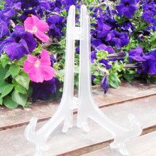 Plastic Easel Stands Display Stand Plate Holders For Photo Dish Art Pieces Certificates Placecard New