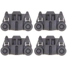 WINOMO 4pcs Professional Wheel Dishwasher Lower Basket Wheel Roller Part Accessory Repairing Universal Dishwasher Accessories