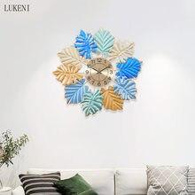 Kreative Licht Luxus Luxus Wanduhr Hause Kunst Uhr Wohnzimmer Schlafzimmer Studie Mayo-stille Metall Wandbehang Uhr