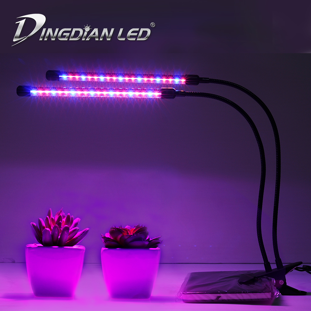 Grow Lightings 10/20/30/40W LED Grow Light DC5V Greenhouse Phyto Lamp Plant Lamp For Plants Flowers Hydroponic With Stand
