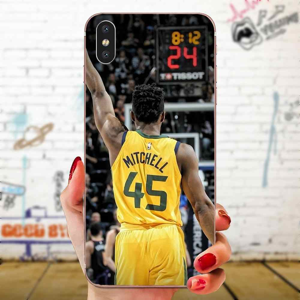 Donovan Mitchell Basketball For Sony Xperia Z Z1 Z2 Z3 Z4 Z5 compact Mini M2 M4 M5 T3 E3 E5 XA XA1 XZ Premium Soft Cover Case